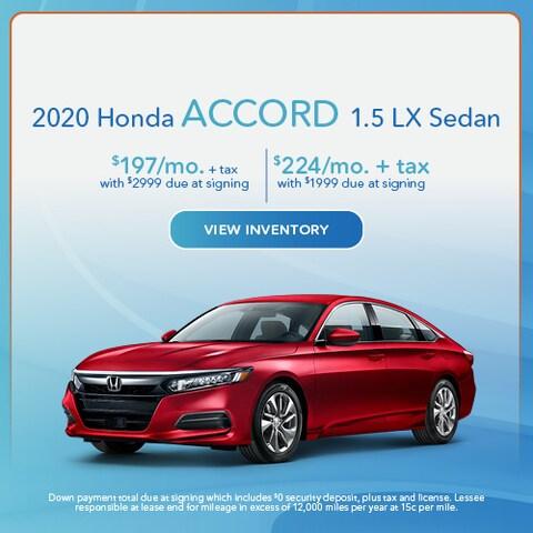 2020 Honda Accord 1.5 LX Sedan