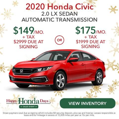 2020 Honda Civic 2.0 LX Sedan Automatic Transmission