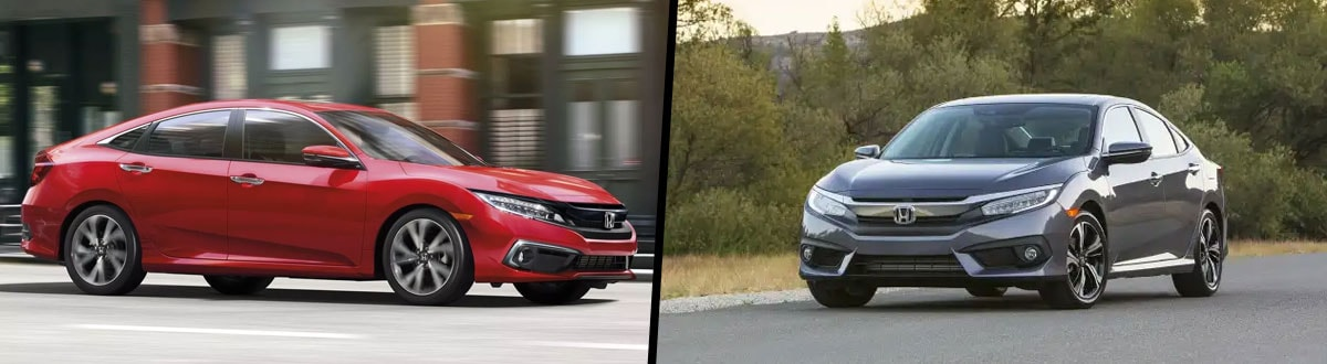 2019 Honda Civic vs 2018 Honda Civic