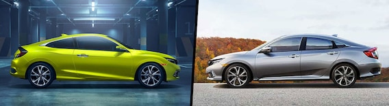 Sedan Vs Coupe >> 2019 Honda Civic Coupe Vs 2019 Honda Civic Sedan Comparison