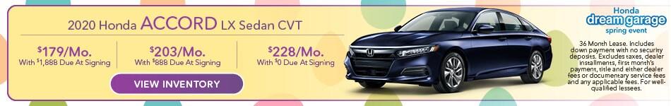 2020 Honda Accord LX Sedan CVT