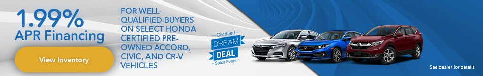 Certified Dream Deal | 1.99% APR Financing
