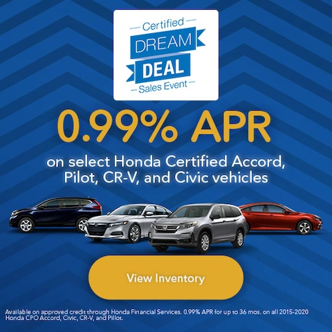 Honda Certified Dream Deal