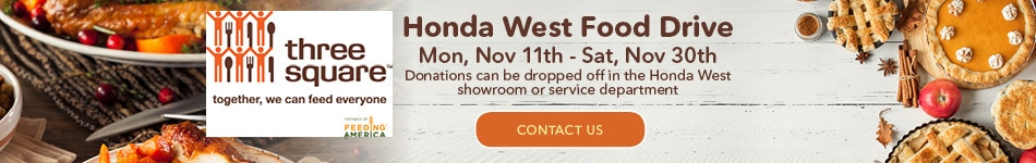 Honda West Food Drive