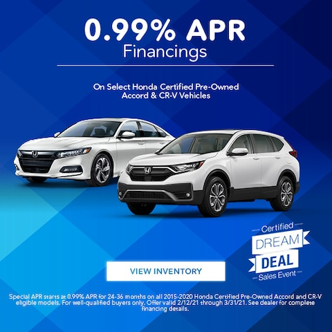 Certified Dream Deal | 0.99% APR Financing