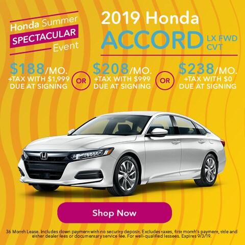 2019 Honda Accord LX FWD CVT - Lease