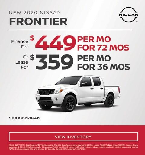 2020 Nissan Frontier Specials