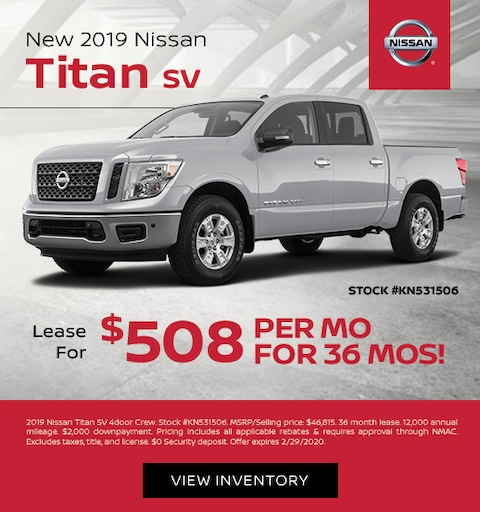 nissan titan lease special
