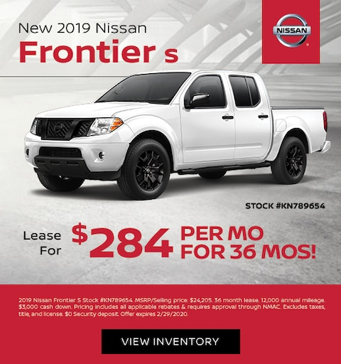 nissan frontier s lease special