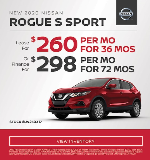 2020 Nissan Rogue Sport Finance and Lease Specials