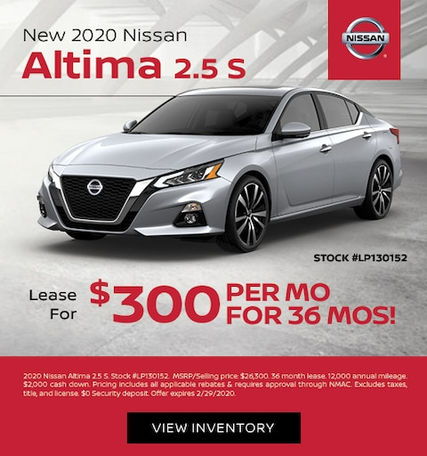 2020 Nissan Altima Lease Specials