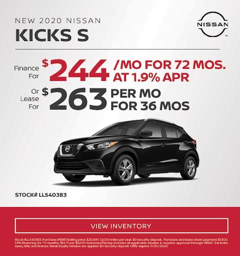 2020 Nissan Kicks Special