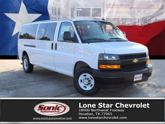 New 2019 Chevrolet Express 3500 LS Van Extended Passenger Van K1205916 in Houston