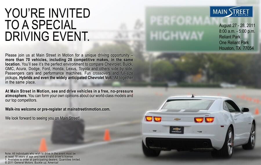 Chevroletu0027s Main Street In Motion Driving Event