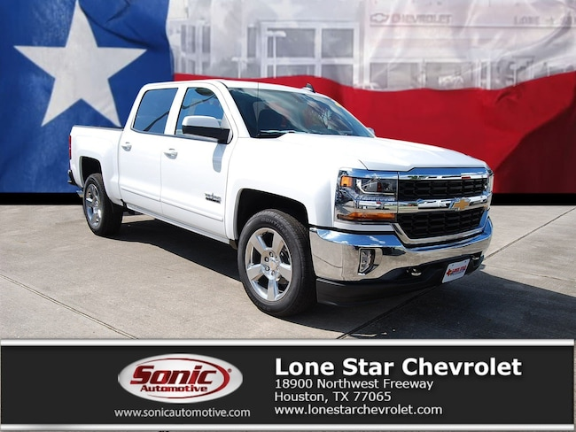 New 2018 Chevrolet Silverado 1500 LT w/1LT Truck Crew Cab JG525257 in Houston