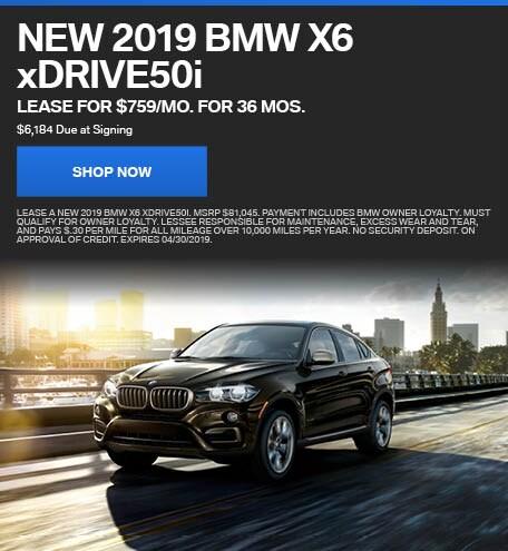 New 2019 BMW X6 xDRIVE50i