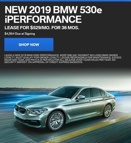 New 2019 BMW 530e iPerformance