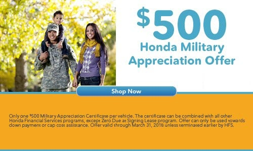Learn More About Honda Military Finance Offers