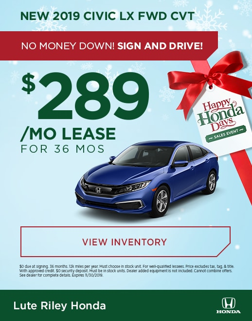2019 Honda Civic Lease Specials