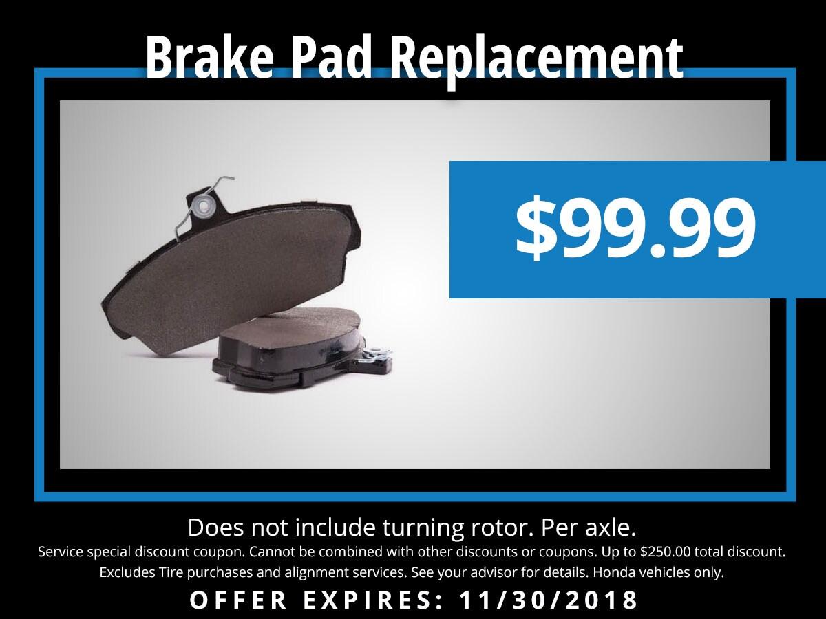 Honda Brake Pad Replacement