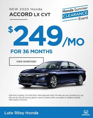 2020 Honda Accord Lease Specials