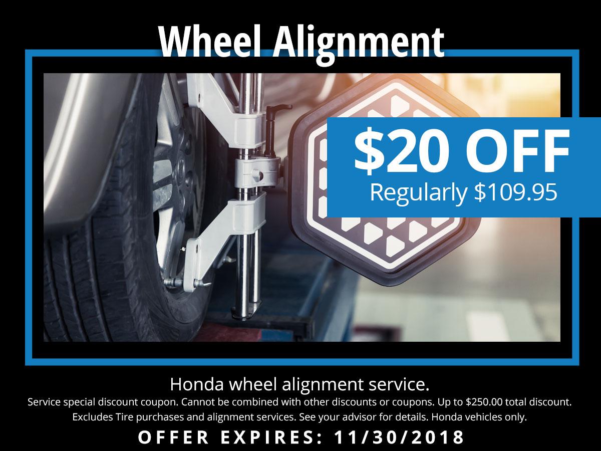 Wheel Alignment Coupons >> Honda Wheel Alignment Service Special Lute Riley Honda