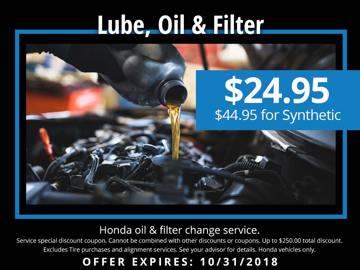 Honda Synthetic Oil Change