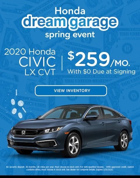 2020 Honda Civic Lease Specials