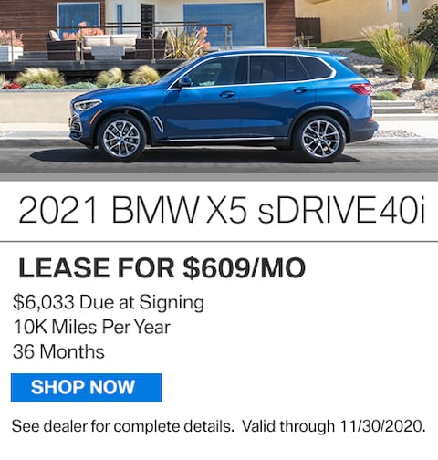 New Vehicle Special - 2021 X5