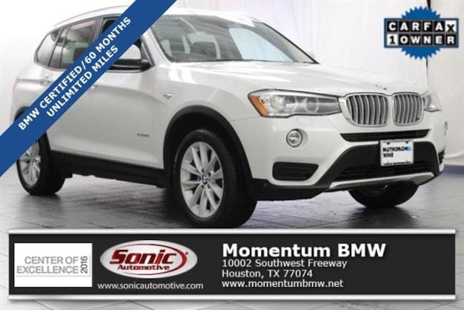 Certified Used 2016 BMW X3 xDrive28i SAV in Houston