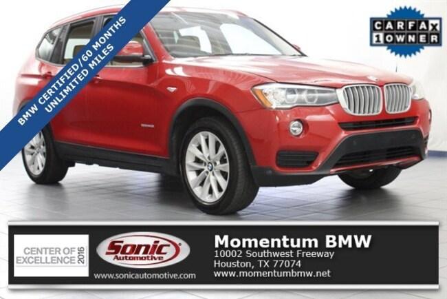 Certified Used 2016 BMW X3 sDrive28i SAV in Houston