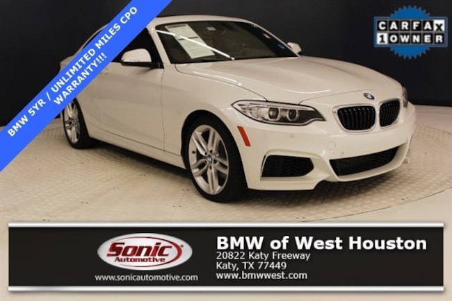 Certified 2016 BMW 228i Coupe in Houston