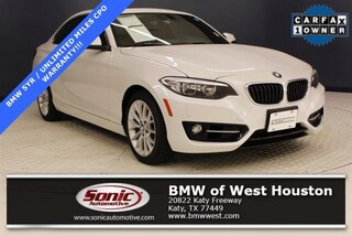 Certified 2016 BMW 228i Coupe LGV545710 in Houston