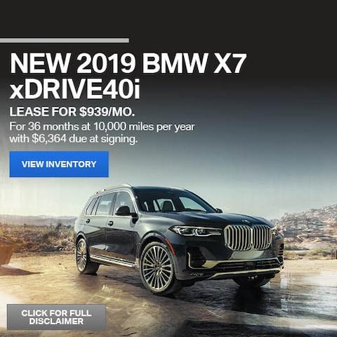 June New 2019 BMW X7 xDrive40i