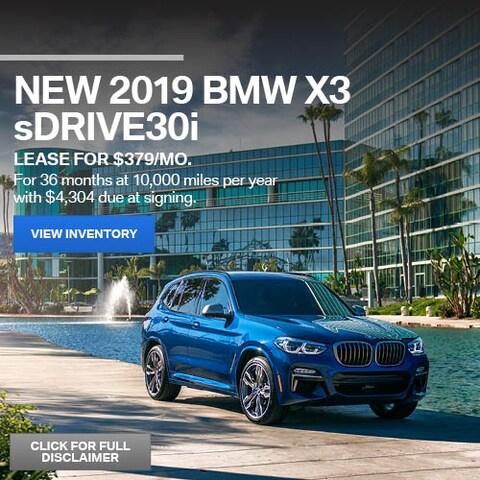 June New 2019 BMW X3 sDrive30i