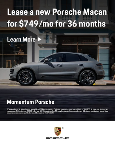 2019 Porsche Macan Lease Offer