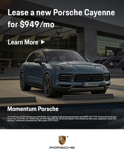 2019 Porsche Cayenne Lease Offer