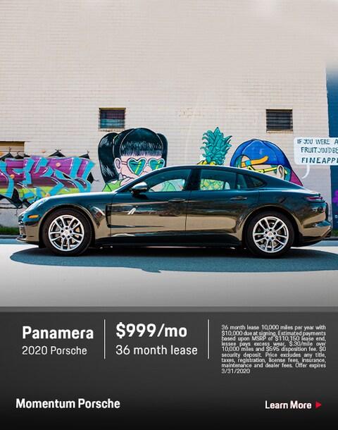 2020 porsche Panamera Lease Special