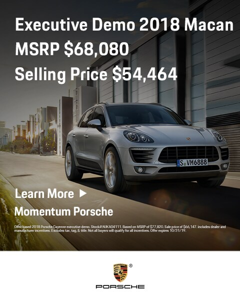 New 2018 Porsche Macan Executive Demo Offer