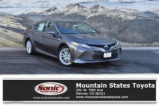 New 2019 Toyota Camry Hybrid XLE Sedan in Denver