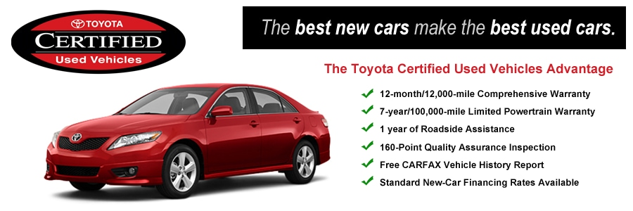 Toyota Certified Pre Owned >> Certified Pre Owned Toyota Vehicles In Denver Mountain States Toyota