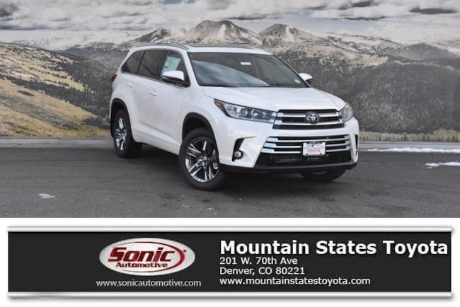 New 2019 Toyota Highlander Limited Platinum V6 SUV in Denver
