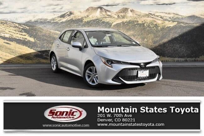 New 2019 Toyota Corolla Hatchback SE Hatchback in Denver