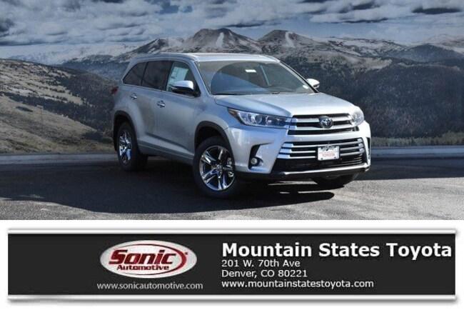 New 2019 Toyota Highlander Limited Platinum V6 SUV in Denver