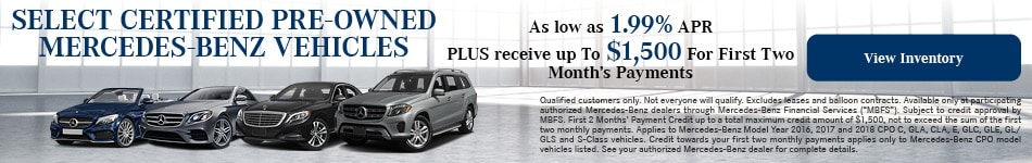 Select Certified Pre-Owned Mercedes-Benz Vehicles