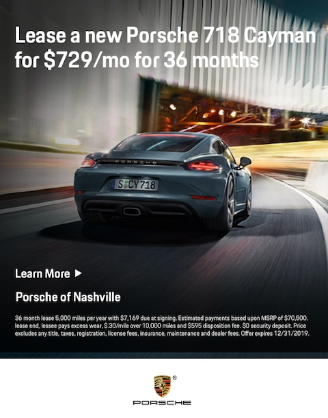 new 2019 Cayman Porsche lease Special