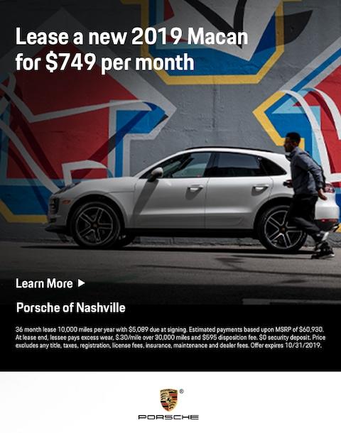 2019 Porsche Macan Lease Offer