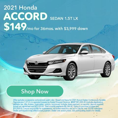 2021 Honda Accord Sedan 1.5T LX