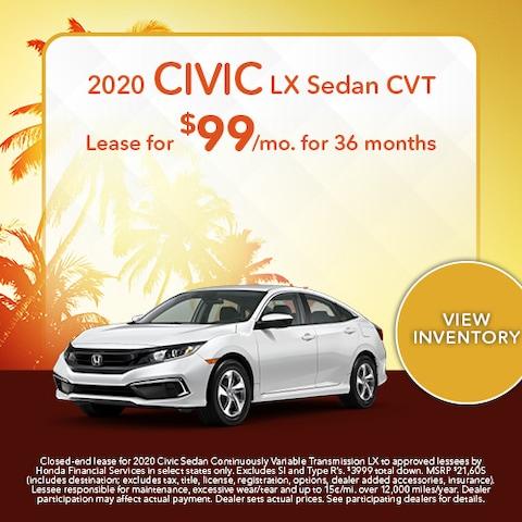 2020 Civic LX Sedan CVT