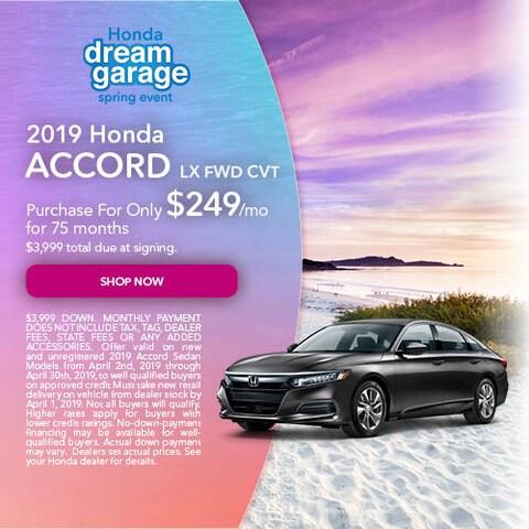 April 2019 Honda Accord LX FWD CVT